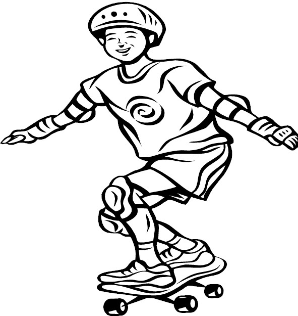 Skateboard 2 coloring page