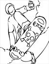 Skateboarding 2 coloring page