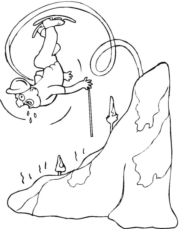 Skiing 5 Coloring Page