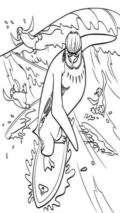 Surf's Up 04 coloring page