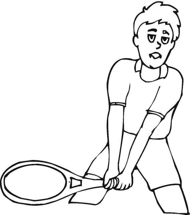 Tennis 2 coloring page