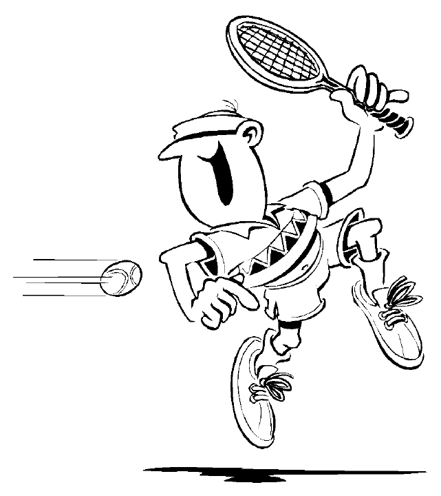 Tennis 3 Coloring Page
