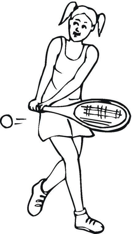 Tennis Coloring Pages Free - Bltidm