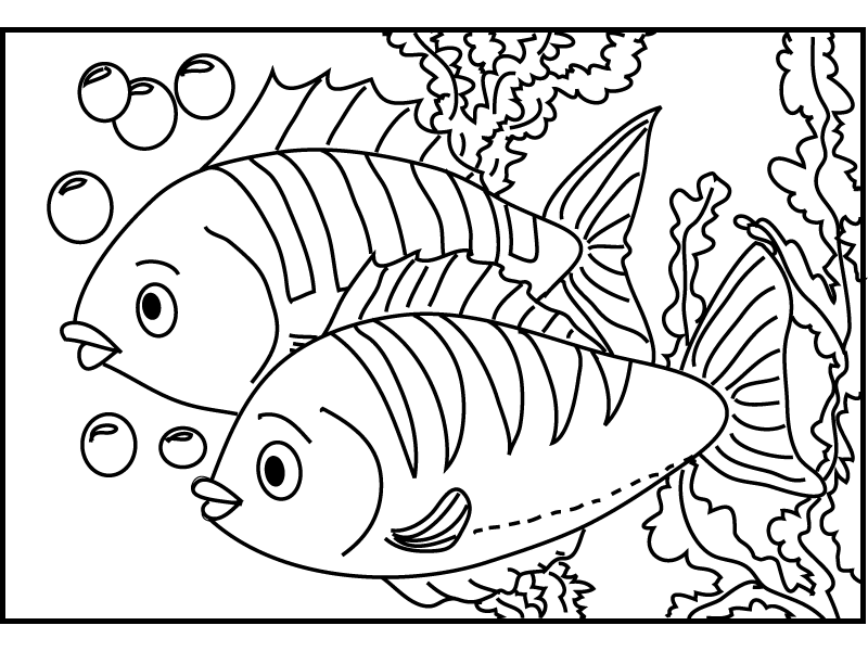 coloring pages printable fish fish coloring pages printable