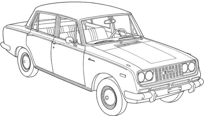 pin old car coloring -#main