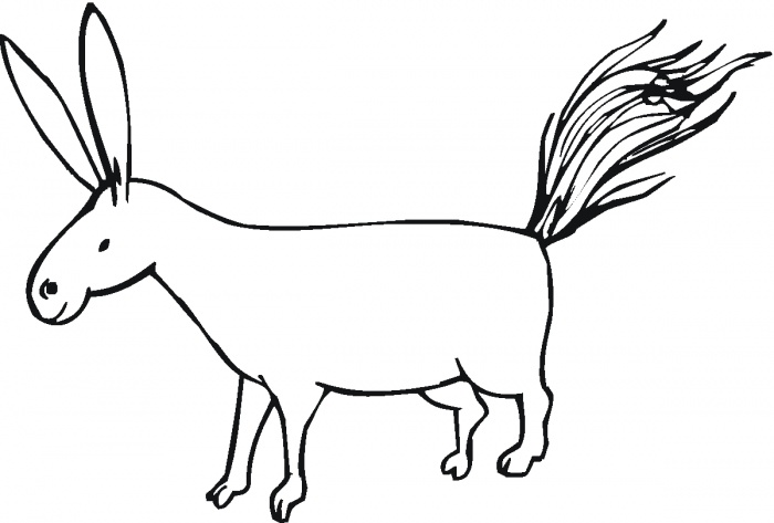 Donkey 3 coloring page