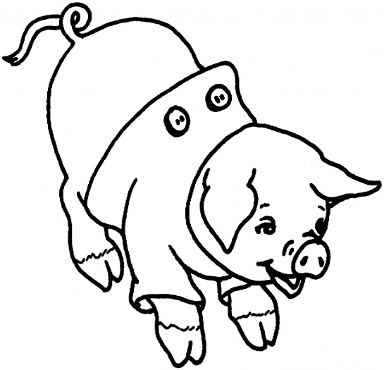 Pig 5 coloring page