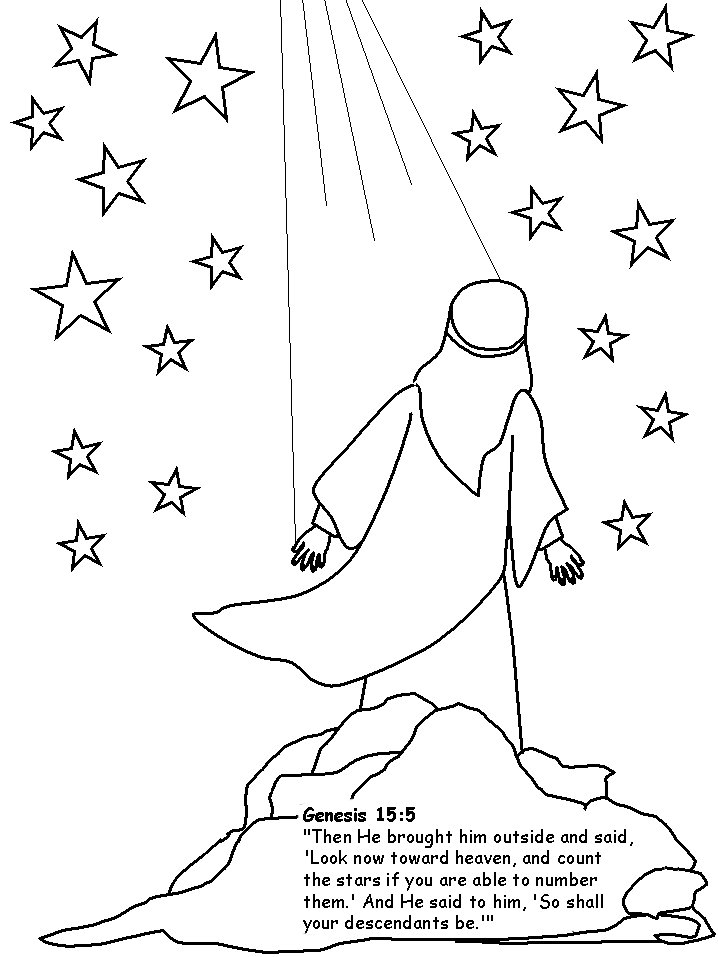 Abraham 3 coloring page