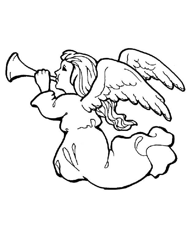 Angel 2 coloring page
