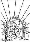 jesus born coloring page