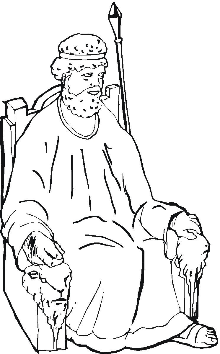 King saul coloring sheet coloring page for King david coloring pages free