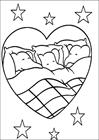 Babar kids sleeping coloring page