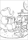 Babar reading coloring page