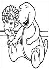 Barney laugh coloring page