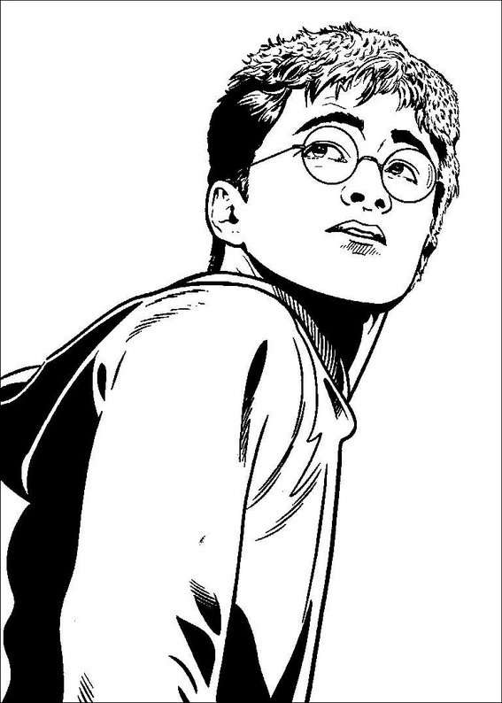 harry potter 001 coloring page