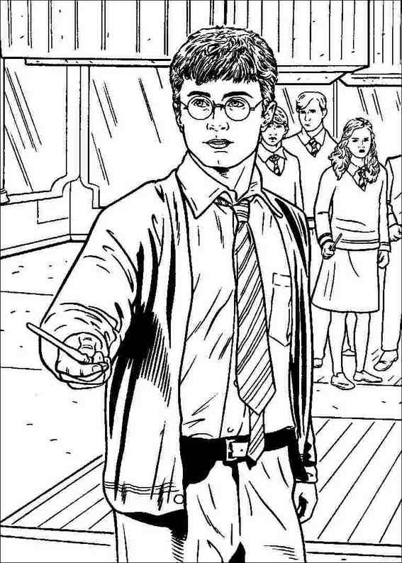 harry potter 011 coloring page