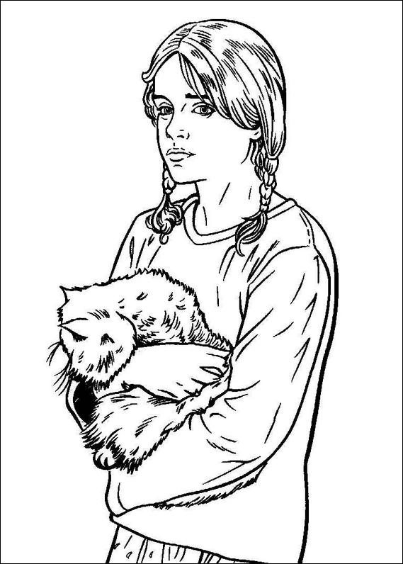 Coloriage Hermione Et Ginny.Harry Potter 035 Coloring Page