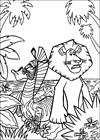 Madagascar 2 coloring page