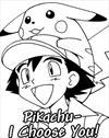 Pikachu Pokemon coloring page