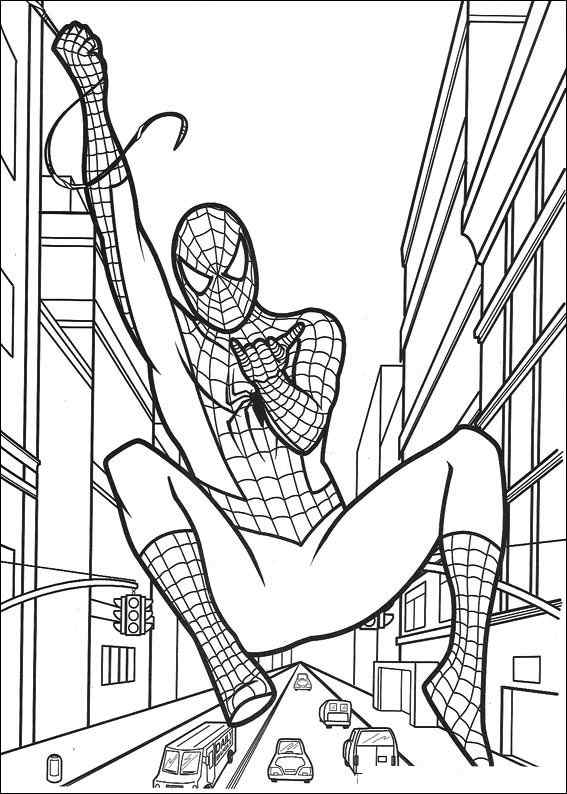 spiderman 013 coloring page