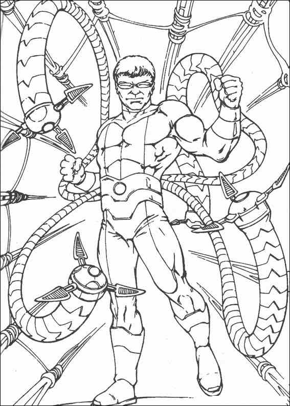 Spiderman 070 Coloring Page Baby Face