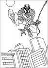 Spiderman 076 coloring page