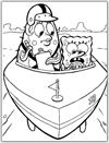 SpongeBob and Mrs Puff coloring page