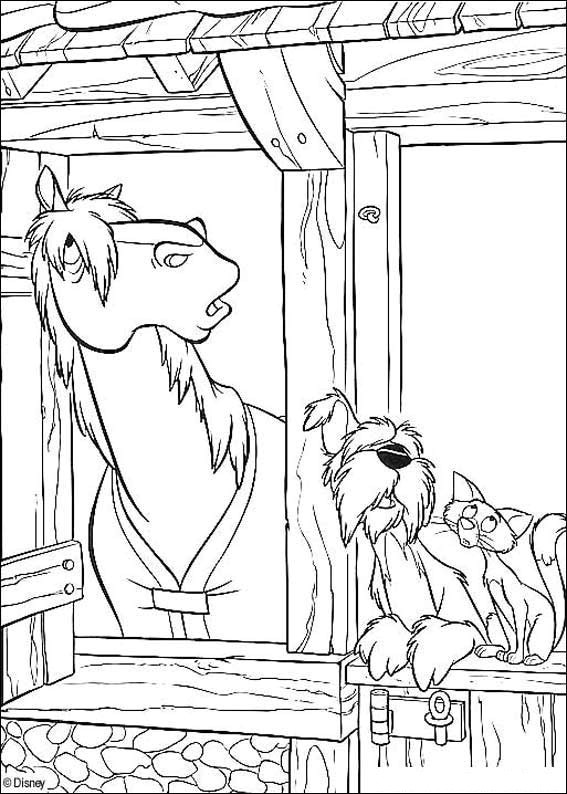 Dog And Cat Coloring Pages Free