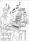 101 Dalmatians listen music coloring page