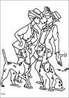101 Dalmatians meet coloring page