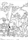 101 Dalmatians walking coloring page