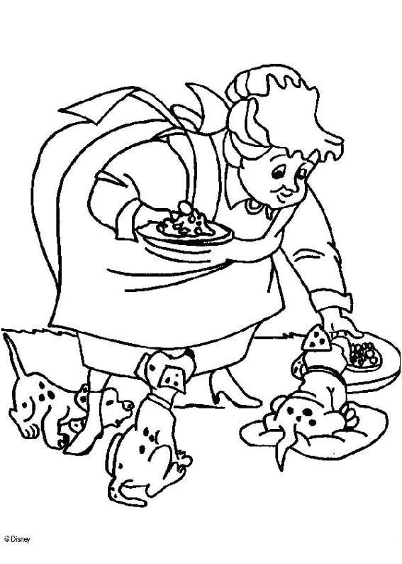 101 Dalmatians with food coloring page
