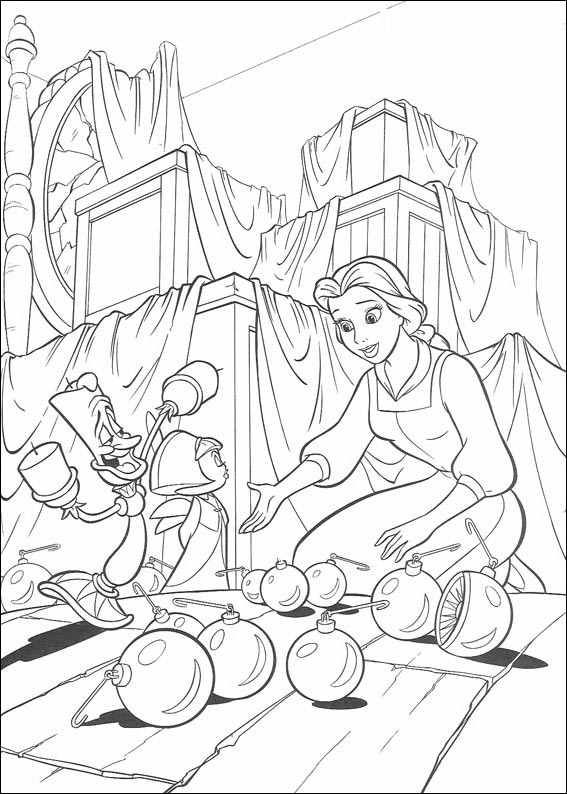 Beauty and the Beast 1 coloring page