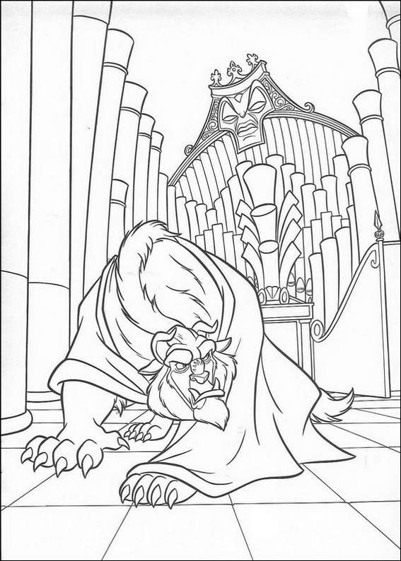 Beauty and the Beast 2 coloring page