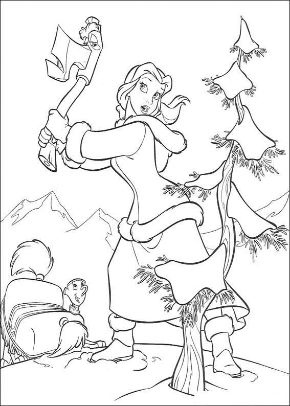 Beauty and the Beast 4 coloring page