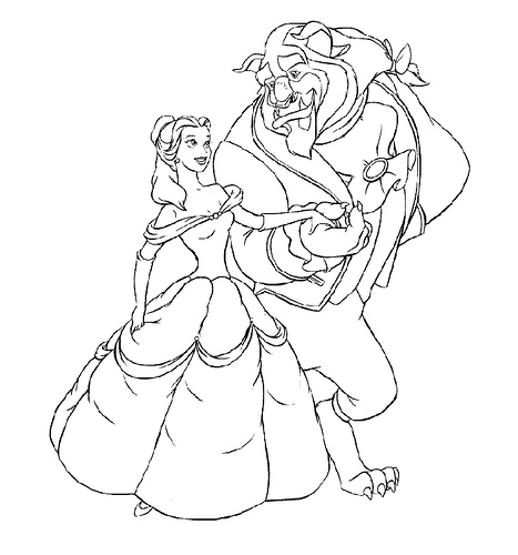 Disney Beauty and the Beast 2 coloring page