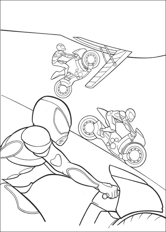 Bolt bad guys coloring page