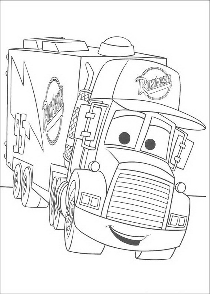 Cars 5 coloring page