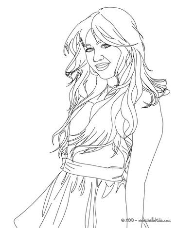 Hannah Montana Miley Cyrus 01 coloring page