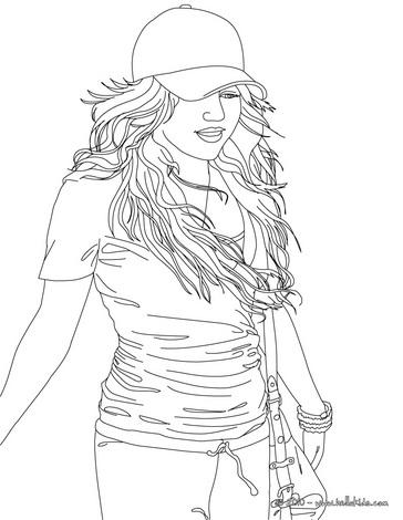 Hannah Montana Miley Cyrus 06 coloring page
