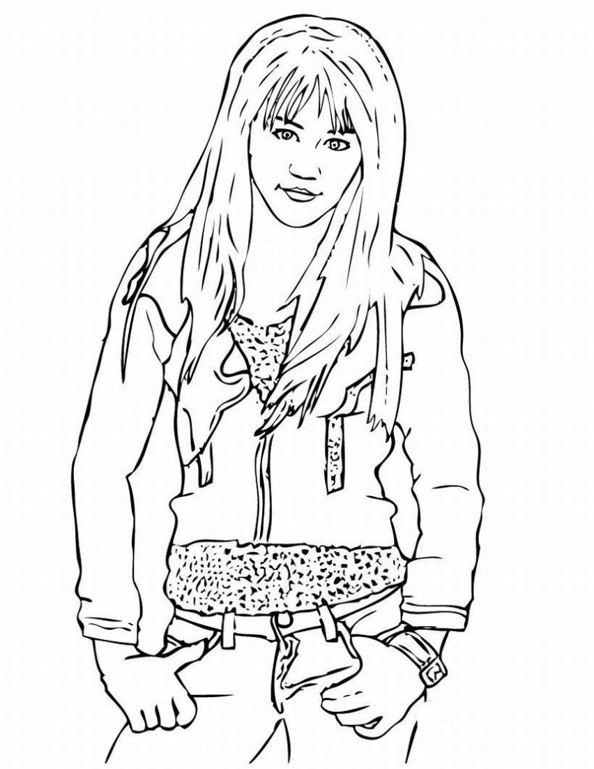 Hannah Montana Miley Cyrus 11 coloring page