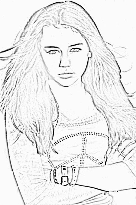 Hannah Montana Miley Cyrus 15 coloring page