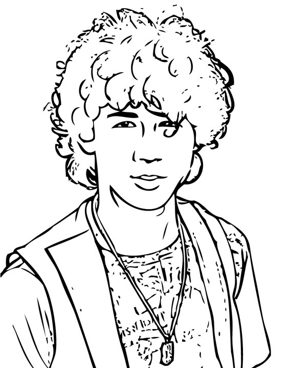 Jonas Brothers 3 coloring page