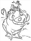 Lion King Timon and Pumbaa coloring page