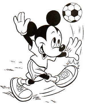 Mickey Mouse football coloring page