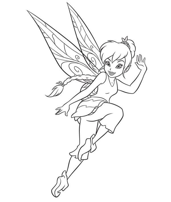 Peter Pan Pixie fairy coloring page