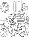 Ratatouille Collette and Linguini coloring page