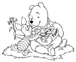 Disney Winnie the Pooh coloring page