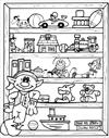 Christmas Elf with presents coloring page