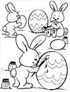 Easter egg and bunny coloring page